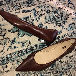 New BP genuine softest leather pointy flats